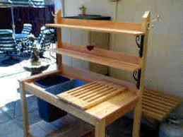 Eliu0027s Potting Bench Options OldGrowth Redwood Casters 2 Plans For A Potting Bench