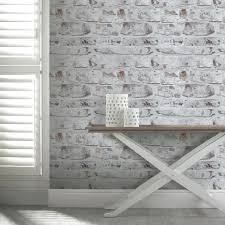 brick wallpaper bedroom ideas. arthouse opera white washed brick wallpaper - http://godecorating.co.uk bedroom ideas e