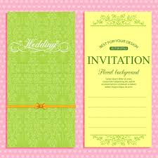 Format Invitation Card Wedding Invitation Card Template Free Vector In Adobe Illustrator Ai