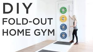 diy fold out gym how to make a crossfit style gym at home