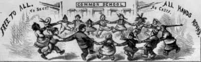 education reform in antebellum america  the gilder lehrman  detail from a harpers weekly cartoon by thomas nast february
