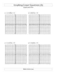 algebra worksheet graph a linear equation in slope