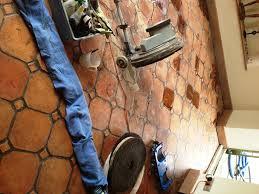 Terra Cotta Floor Tile Kitchen Matching Mixed Terracotta Kitchen Tiles In Paxford Warwickshire