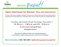 open job fair for nurses st john s rochester ny view pdf file