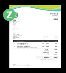 Free Invoice Templates Download Invoice Template Zoho