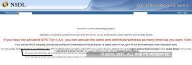 nps how to unfreeze your nps account