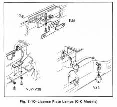 """light duty truckcar wiring diagram page 3 license plate lamps schematic c k models for 1979 gmc light duty truck series 10 35 """""""