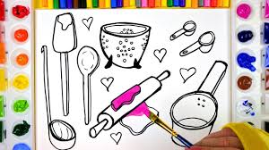 Small Picture Coloring and Painting Kitchen Tools Coloring Pages for Kids to