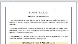 Blanket Release Form Youtube