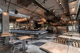 Industrial Style Bar From Budapest In 2019 Industrial Chic