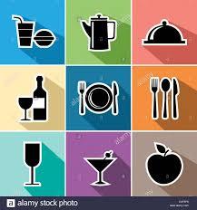 restaurant menu design app food and restaurant set of flat icons design website menu