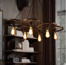 pendant lighting bar. vintage iron loft light 136 head wheels pendant bar living lighting a