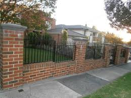 Small Picture 26 best Brick fence images on Pinterest Brick fence Fence ideas