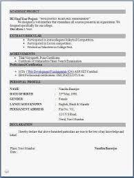 Simple Resume Format For Freshers Free Download | Resume Corner