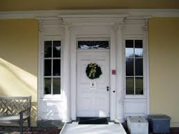 wood entry doors with sidelights and transom