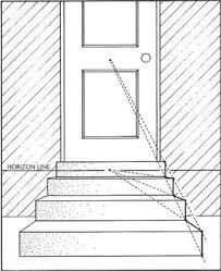 Rechner für ausmaße, anzahl der stufen, stufengröße, steigungsverhältnis und neigungswinkel einer geraden treppe (oder leiter). Simple Stairs In One Point Perspective One Point Perspective Perspective Art Perspective Drawing Lessons