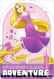 tangled rapunzel adventure beyond imagination birthday card