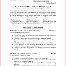 Resume Samples For Experienced Accounts Professionals Valid ...