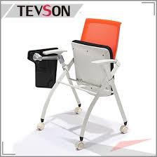 folding office chair. Office Meeting Room Folding Seat Bag Training Mesh Chair With Tablet (