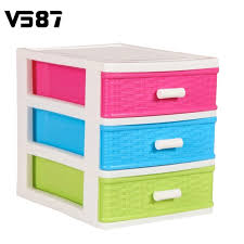 three drawers plastic storage box desktop modern design jewelry organizer holder cabinets fit for office home cheap office drawers