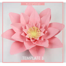 How To Make Big Lotus Flower From Paper Paper Lotus Flower Template Under Fontanacountryinn Com