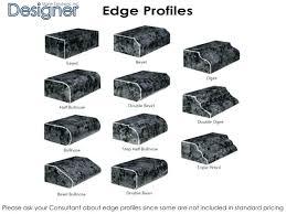 countertop edges options edges edge profiles edges laminate edge options laminate metal edge edges ceramic tile