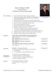 sample real estate resume  template  template sample real estate resume