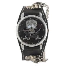 online buy whole trendy mens watches from trendy mens mjartoria skull leather bracelet quartz watch women punk style mens watches fashion rock trendy bracelet watch cool gift clock