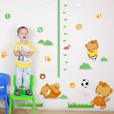 cartoon height stickers childrens