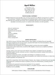 Billing Specialist Resume Medical Billing Specialist Resume Contract