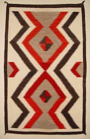 Interesting Antique Navajo Rugs Historic American Indian Crystal Bold Serrated Intended Design Decorating