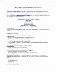Resume Samples For Mechanical Engineers Freshers Awesome Photos
