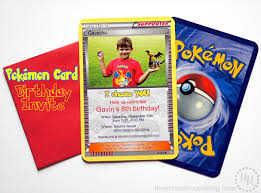 Pokémon Card Birthday Invitation The Scrap Shoppe