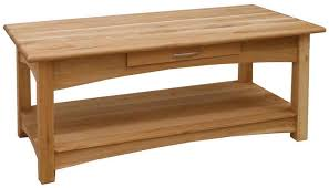 brooklyn oak 1 drawer coffee table