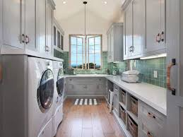 laundry room lighting. Laundry Room With Ceramic Backsplash And Grey Cabinets Also Modern Lights Lighting U