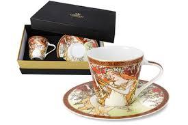 Чашка с блюдцем Весна (А. Муха) в подарочной упаковке ...