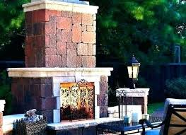 outdoor stone fireplace ideas outside fireplaces plans free ou
