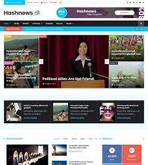 Website Template Newspaper Demo Preview For Hashnews Magazine Newspaper Website