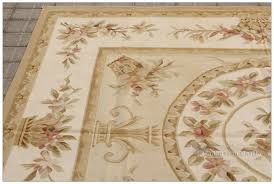 aubusson rug 6x8 pastel gold ivory