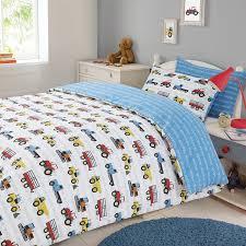 dreamscene transport duvet cover with pillow case boys kids workforce car truck bedding set blue double by dreamscene premium for homeware