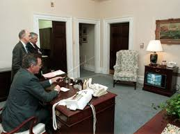 west wing oval office. The Working West Wing: President Bush In Outer Oval Office - White House Historical Association Wing C
