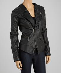 all gone black elbow patch faux leather jacket