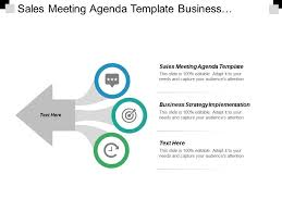 Sales Meeting Agenda Sales Meeting Agenda Template Business Strategy