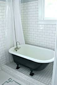 small clawfoot bathtub tub with tile this idea but not the colors tub shower bathroom designs