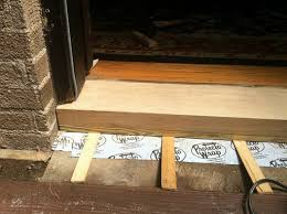 oak exterior door threshold. replacing the door sill/threshold oak exterior threshold