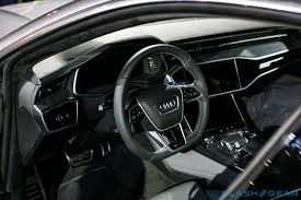 audi a7 interior black. Fine Black The Screen With Its Black Panel Optics And Graphite Gray Frame Blends  Almost Completely Into The Dash When Itu0027s Switched  To Audi A7 Interior Black O