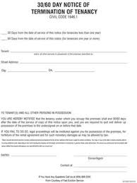 30 day notice to move out letter blank eviction notice form free word templates tenant eviction