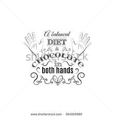 stock vector a balanced diet is chocolate in both hands quote typographical background made in hand drawn 384916990 balanced diet chocolate both hands quote stock vector 384916990 on template visit card