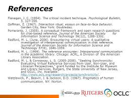 creating a new theoretical model for reference encounters in  27 references flanagan