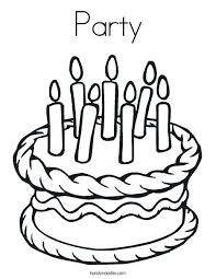 Party Coloring Page Cake With 7 Candles Coloring Page Birthday Party
